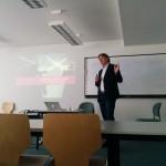 Frank Behrendt beim Gastvortrag an der Universität Leipzig. Foto: Sebastian Weber ©