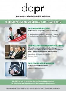 DAPR-Seminarprogramm 2. Halbjahr 2015
