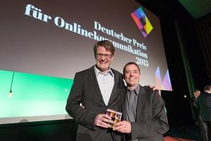 Onlinekommunikationspreis Thomas Sprenger und Dr. Arndt Embacher