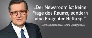 Hermann-Josef Knipper, Leiter Unternehmenskommunikation der Allianz
