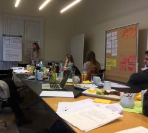 Zusammen mit den Frankfurter Kollegen beim Konzeptionstraining