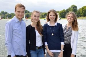 v. l. Jonas Hille, Katharina Koop, Maike Grunenberg, Svenja Mueller