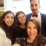 PRIHO e.V. auf dem Kommunikationskongress 2018: Lena Totzke, Gastautorin Lisa Girard, Friederike Vees und Christian Schraml